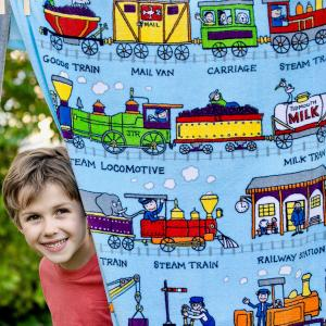 Trains Design Towel