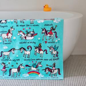 Unicorns Design Towel