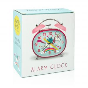 Unicorn Design Children's Alarm Clock · Twin Bell · Silent Tick