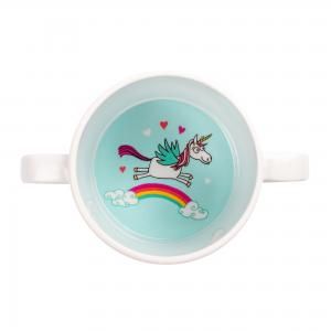 Unicorns Design Melamine Toddler Training Cup