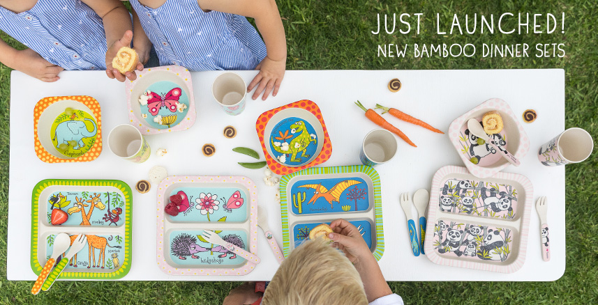 Kids Bamboo Dinner Sets
