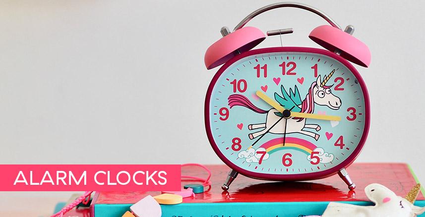 CHILDREN'S ALARM CLOCK · TWIN BELL · SILENT TICK
